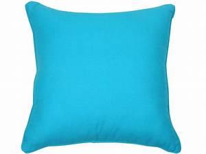 Coussin Exterieur Pas Cher : coussin sara coloris turquoise vente de coussin et ~ Premium-room.com Idées de Décoration