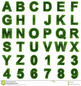 3d grass letters and numbers stock illustration image With 3d letters and numbers