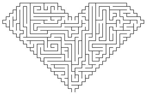 Heart Maze Coloring Page & Coloring Book