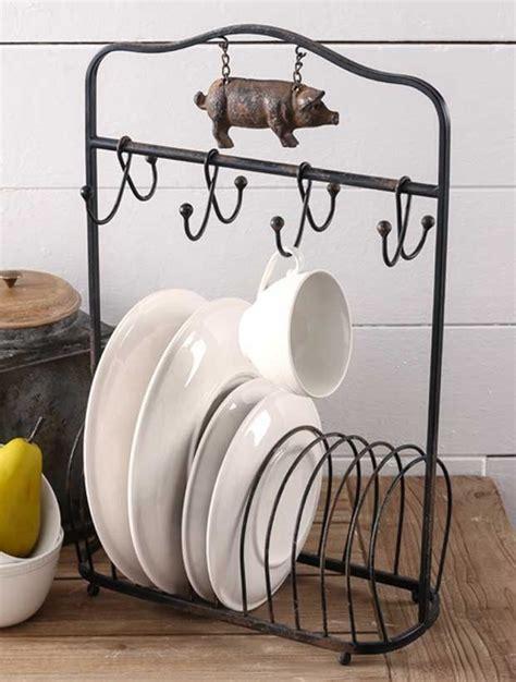 farmhouse plate rack  hooks plate racks modern kitchen appliances farmhouse mugs