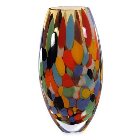 unicef uk market handcrafted brazilian glass vase