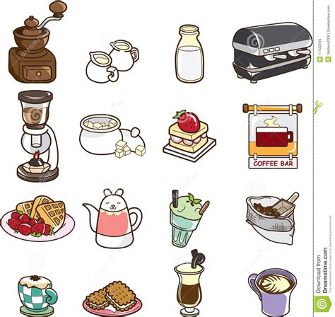Cartoon Cafe Royalty Free Stock Images   Image: 17422249