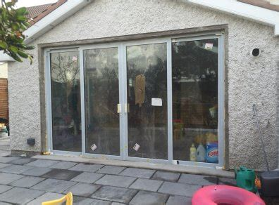 brand new glazed aluminium 4 part sliding patio