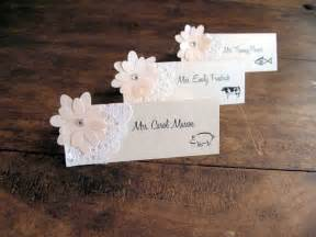 shabby chic wedding place cards wedding place cards bridal shower place cards placecards shabby chic doily rustic www