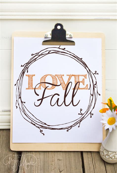 Ten Free Fall Printables From Thrifty Decor Chick