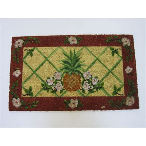 pineapple door mat floral pineapple doormat