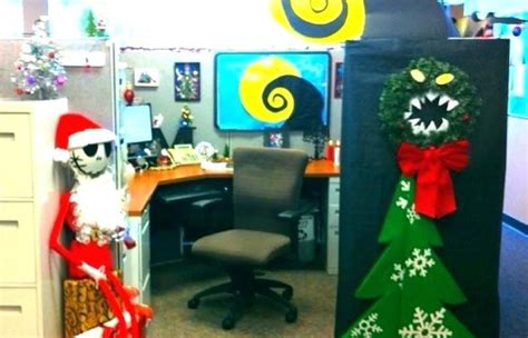 halloween office themes decorating decoration work ideas