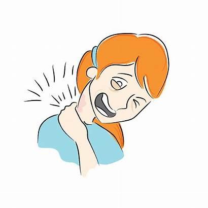 Pain Neck Cartoon Clipart Clip Shoulder Illustrating