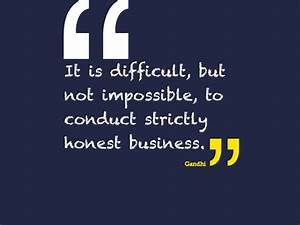 Quotes About Honesty In Business. QuotesGram