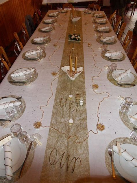 idee decoration de table noces dor noces dor repas