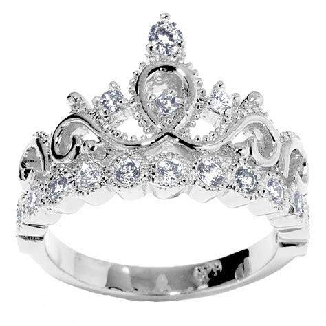 14k Gold Princess Crown Diamond Birthstone Ring (april. Dessert Rings. Masculine Man Engagement Rings. Simple Style Wedding Rings. Modern Metal Engagement Rings. 4 Band Rings. Elegance Engagement Rings. Bush Rings. Blood Red Rings