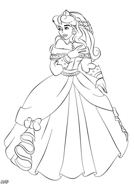 Need a bright and cheery activity for a rainy day? Aurora disney princess coloring pages download and print ...