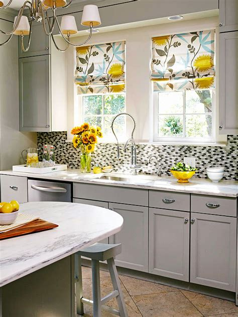 yellow and gray kitchen accessories gray and yellow kitchen contemporary kitchen bhg 1981