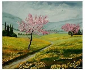 Bilder Bäume Gemalt : fr hling in der toscana toskana mandelbl te weg butterblumen fr hling von doroty bei kunstnet ~ Orissabook.com Haus und Dekorationen