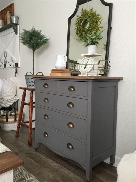 charcoal gray dresser   sweet  note painted