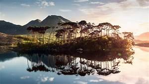 Wallpaper, Ireland, Lake, Mountains, Tree, Sunrise, 4k
