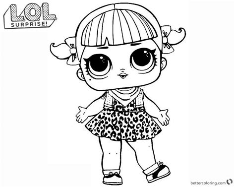 Kleurplaat Lol by Lol Doll Coloring Pages Series 2 Cherry Free