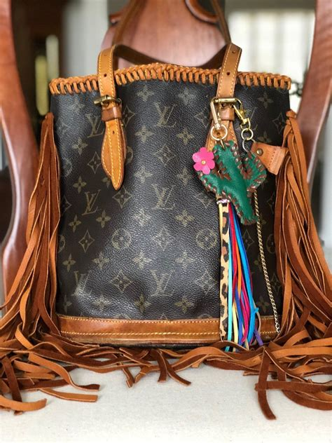 louis vuitton authentic upcycled pm bucket bag