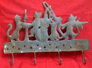 vintage collectible iron wall hanger antique hand carved pussy band shape hanger ebay