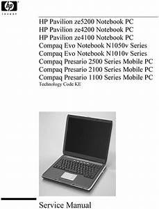 Hp Pavilion Ze5200 Series Service Manual