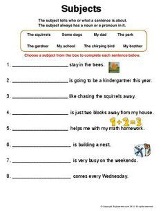 worksheet subjects write  subject   blanks
