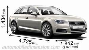 Dimension Audi A4 Avant : dimensions of audi cars showing length width and height ~ Medecine-chirurgie-esthetiques.com Avis de Voitures