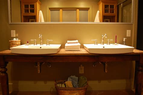 Using A World Market Dining Room Table For A Bathroom Sink