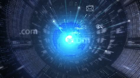 digital tunnel internet technology background stock