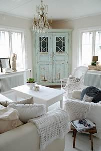 Living Style Möbel : wohnzimmer landhausstil shabby chic vintage style ~ Watch28wear.com Haus und Dekorationen