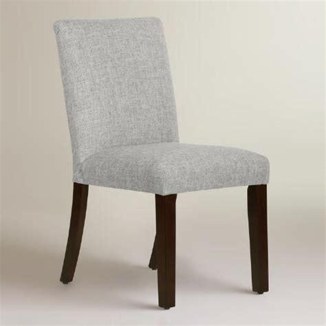 linen blend kerri grey upholstered dining chair