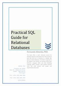 Pdf  Practical Sql Guide For Relational Databases
