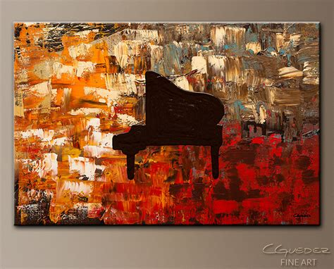 grand piano abstract painting on canvas abstract for sale black piano