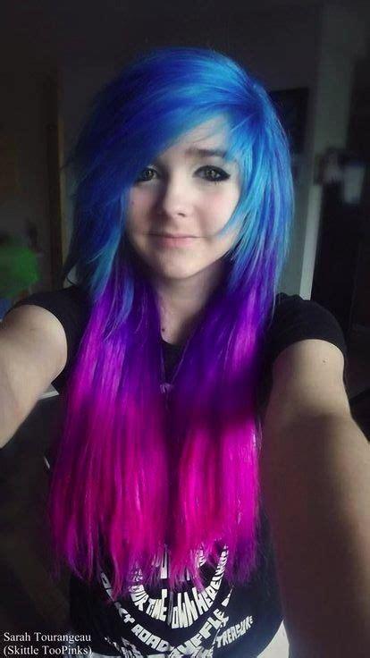 Blue Purple Pink Galaxy Ombre Scene Hair Hair