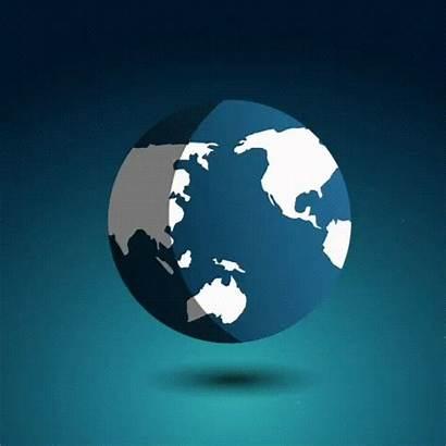 Animation Earth Globe Rotating 2d Vector Gifs