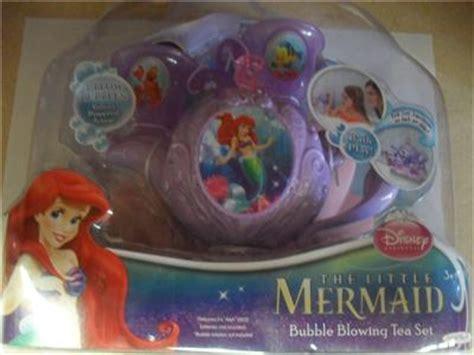 Mermaid Teapot Bath Set by Bnwt Disney Princess The Mermaid Blowing Tea