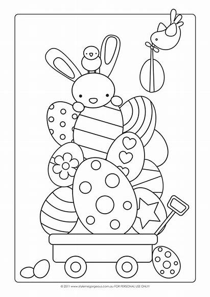 Easter Coloring Pages Bunny Colouring Paper Scrapbooking