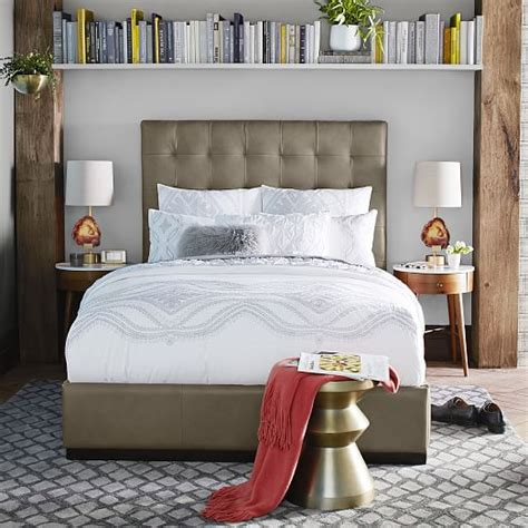 Ikea Tufted Headboard by Tufted Leather Headboard Leather Tufted Headboard