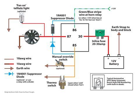 wiring diagram for fan wiring diagram for electric fan powerking co