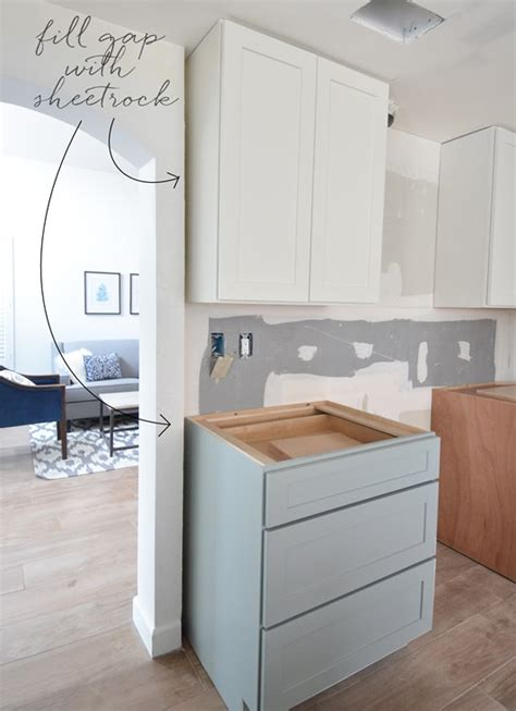 how to fill in lines in cabinet doors kitchen cabinet installation centsational