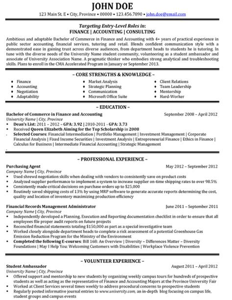 accounting consultant resume sles accounting resume resume sle template