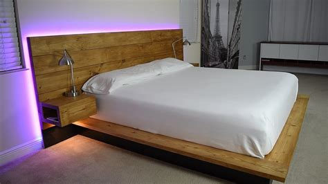 size bed frame with headboard diy platform bed with floating stands plans