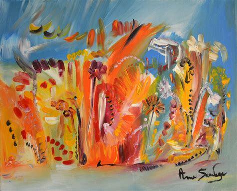 peintures modernes de fleurs tableau abstrait fleurs peinture florale
