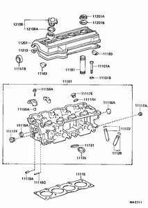 Toyota Celica Engine Camshaft Plug  Plug  Semicircular