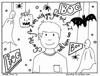 Coloring Halloween Pages Fear Christian Children Bible
