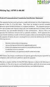 Atop Technologies At705rfid Picktag User Manual At707a4krf