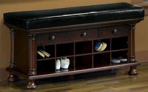 Forget about pain to store shoes with shoe benches   Shoe
