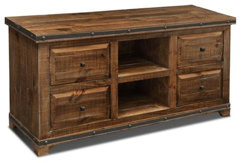 Rustic Credenza - rustic distressed reclaimed solid wood credenza tv stand