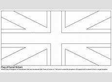 Kolorowanka Flaga Wielkiej Brytanii Kolorowanki dla