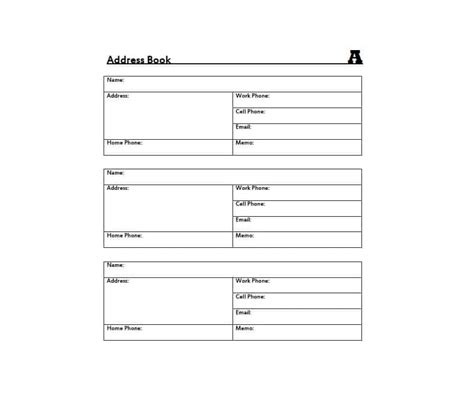 Address Book Template 40 Printable Editable Address Book Templates 101 Free