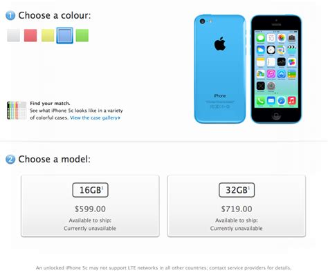 Unlocked Iphone 5c Prices In Canada Start At 9 For 16gb